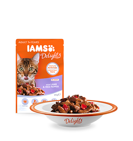 IAMS Delights with Lamb & Red Pepper in Gravy