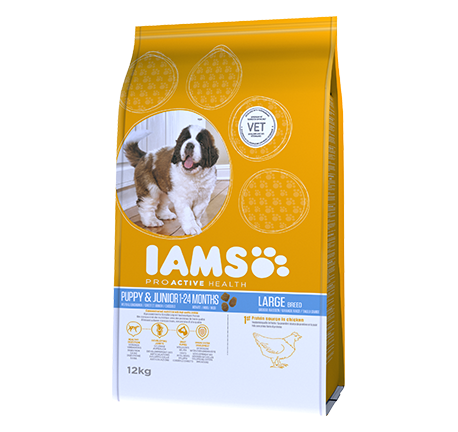 Iams® PROACTIVE HEALTH Puppy & Junior Large breed Rich in Chicken